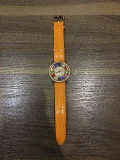 Jam tangan tali Fashion Orange