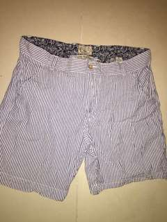 Blue stripes shorts for men