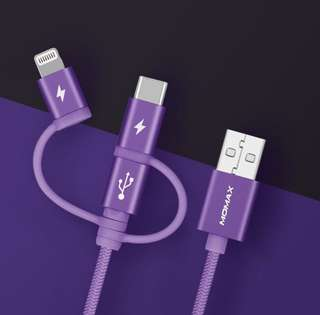 MOMAX Onelink 3合1(Type-C/Micro/Lightning) 編織連接線