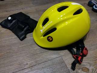 小童單車頭盔連護腕 Kid Helmet with Wrist guard