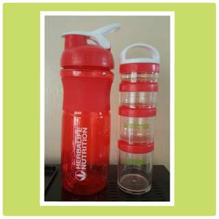 Herbalife Shakercup with Shake Containers