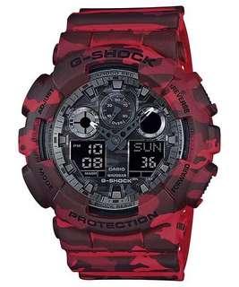 Original Casio G-Shock Camouflage Series Red Watch