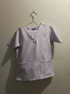 Plain White Scrub suit XS (2Pairs)