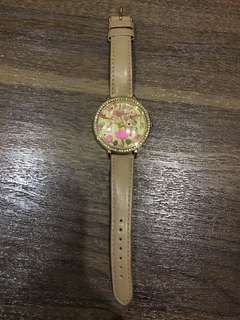 Jam tangan Fashion merk Mini coklat nude