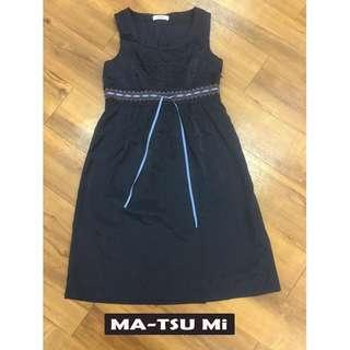 🚚 【專櫃】MA-TSU Mi 質感藍色涼感日系品牌洋裝