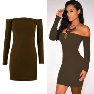 Bodycon Off Shoulder Evening Party Dress