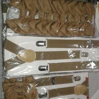 PRE ORDER Bow tie and suspender set