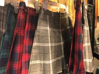 Korean plaid skirts