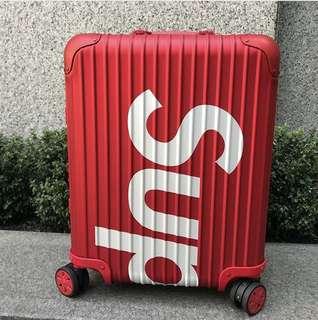 "Supreme x Rimowa 聯名限量版Red Topas 45L 紅色Handcarry 22"" Topas"