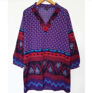Boho Pattern Long Blouse