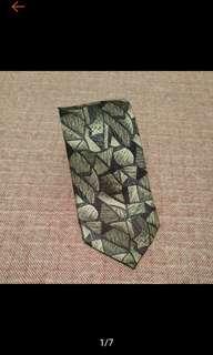 🚚 古著 CARVEN 法國 復古圖騰印花 領帶 古著領帶 VINTAGE