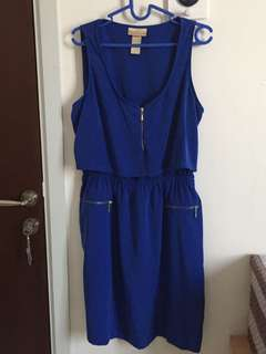 Blue Zipper Dress