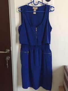 Blue Zipper Dress