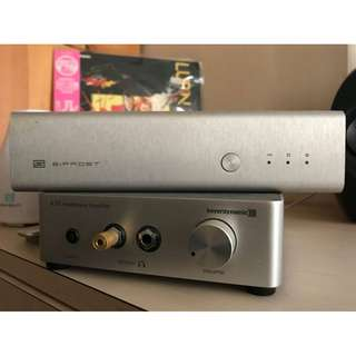 schiit bifrost dac & Beyerdynamic A20 Headphone Amplifier