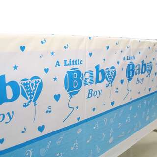 🌈 Baby Boy baby shower party supplies - tablecloth / table cloth/ table cover