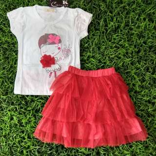 Girl set Red Tutu