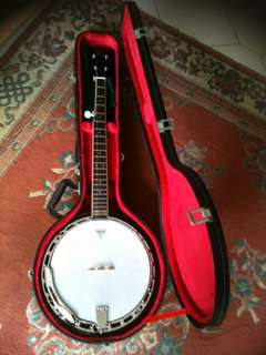 Gibson Epiphone 5 strings Solid Maghony Banjo.