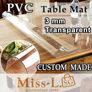 🍭 CUSTOM MADE TABLE MAT-3MM TRASPARENT