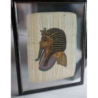 Egyptian Papyrus Art Painting , with double glass top frame