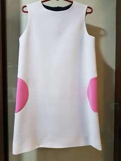 Dress - front white, back black