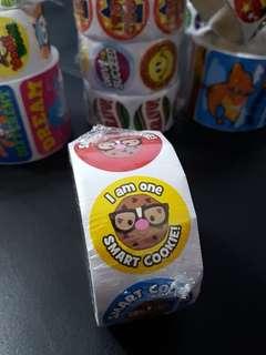 [INSTOCK] BN Roll of SMART COOKIE! Reward/Merit Stickers (Oriental Trading)