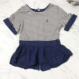Japan Brand Navy Blue Stripped Top