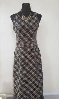Maldita Plaid Dress