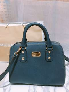 Michael Kors Leather Satchel Bag in Navy (Brand new)