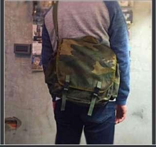 vintage 古著 克羅埃西亞 公發軍用包 老物件 迷彩 側背包