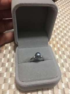 海水珍珠Akoya s925純銀戒指(6.2mm珠)