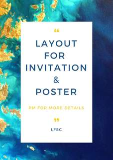 INVITATION CARDS & POSTER
