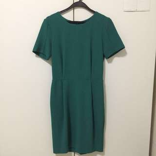 Topshop Dress Emerald Green