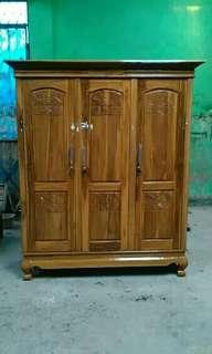Lemari pakaian pintu 3 kayu jati