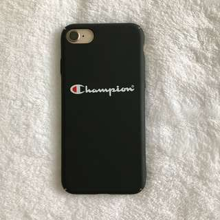 iPhone 7/8 Matte Black Champion Case (Hardshell)