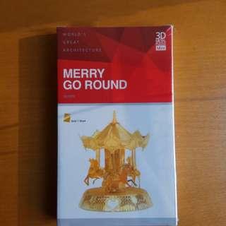 Merry go round 3-D puzzle 旋轉木馬立體拼圖