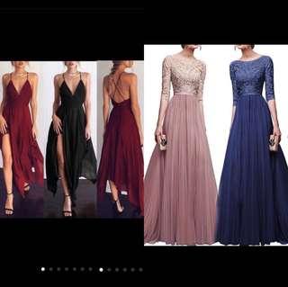 PO | prom / cocktail / wedding waterfall asymmetrical dress