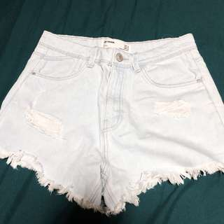 Zara Light Washed Denim Shorts