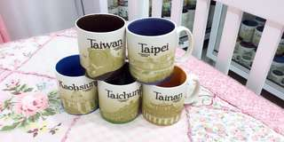 Starbucks Taiwan global icon mugs