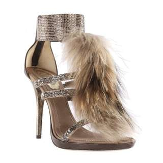 Rene Caovilla Fur High Heels 37.5