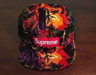 On sale! FW17 Supreme Painted Floral Camp Cap. Brand new with tags.