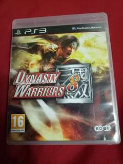 Ps3 game Dynasty Warriors 8