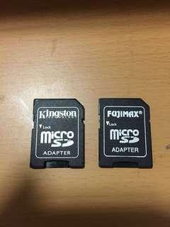 Kingston and fujimax micro sd card adapter