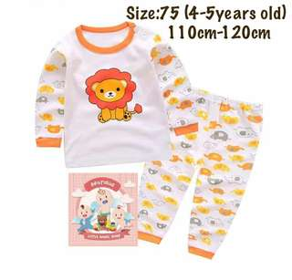 Ready stock! Lion unisex pajamas (size75)