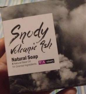 🌊Snody Vocanic Ash soap  Natural base oil Oriental Ingredients Moisture Soap Cleansing Charcoal soap Magic stone Korea soap Good for eczema, psoriasis or acne