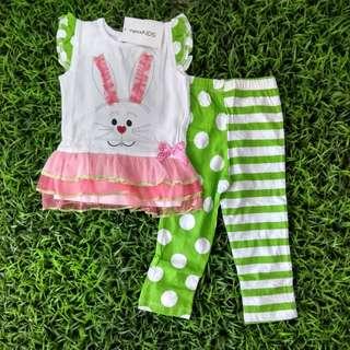 Girl set Rabbit Polka
