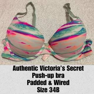 Victoria's Secret Push-up Underwire Bra 34B