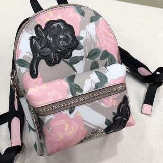 Coach small floral backpack