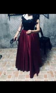 Elegant Off Shoulder Gown