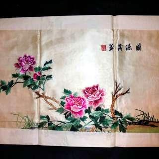 【早期珍藏湘繡精品】財源茂盛(畫芯:73cm × 42cm)