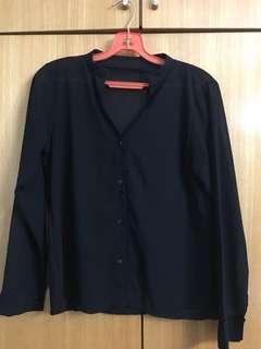 Black Loose button down shirt